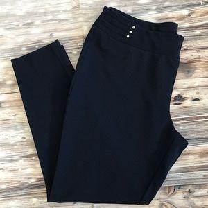 🆕 Anne Klein Navy Check Skinny Dress Pants
